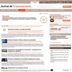 Déchets : actualités et articles - JDLE