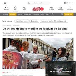 Le tri des déchets modèle au festival de Bobital