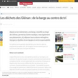 Les déchets des Glénan : de la barge au centre de tri