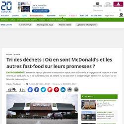 Tri des déchets: Où en sont McDonald's et les autres fast-food sur leurs promesses?