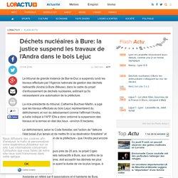 Déchets nucléaires à Bure: la justice suspend les travaux de l'Andra dans le bois Lejuc