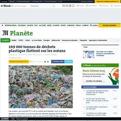 269 000 tonnes de déchets plastiques flottent sur les océans