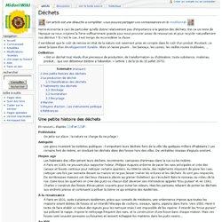 Déchets - Wikiverts