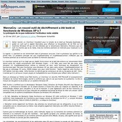 WannaCry : un nouvel outil de déchiffrement a été testé et fonctionne de Windows XP à 7, le prérequis de ne pas redémarrer l'ordinateur reste valable