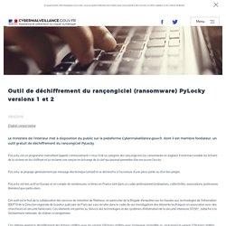 Outil de déchiffrement du rançongiciel (ransomware) PyLocky versions 1 et 2