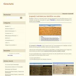 [Logiciel] L'outil idéal pour déchiffrer vos actes - Blog généalogie - Actualité généalogique par Eric FERRA, Généalogiste