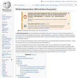 Déchristianisation (Révolution française)