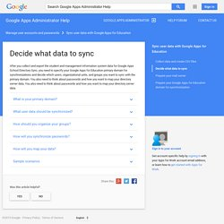 Decide what data to sync - Google Apps Administrator Help