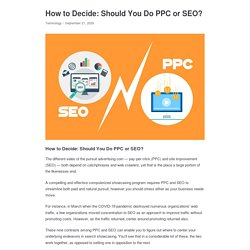 How to Decide: Should You Do PPC or SEO? - Appkineticsllc