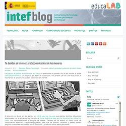 Tú decides en internet: protección de datos de los menores