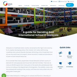 A guide for Deciding Best International School in Malaysia