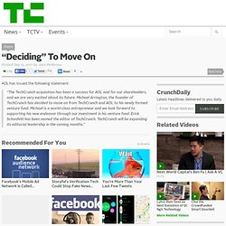 """Deciding"" To Move On 