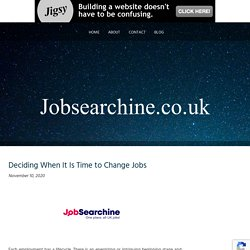 Deciding When It Is Time to Change Jobs