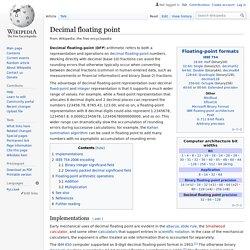 Decimal floating point