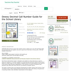 Dewey Decimal Call Number Guide for the School... by Kathryn Garcia