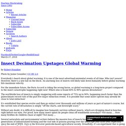 Insect Decimation Upstages Global Warming