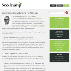 Deciphering Crowdfunding For Startups