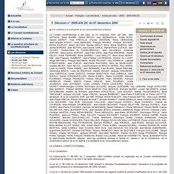 Décision n° 2000-436 DC du 07 décembre 2000