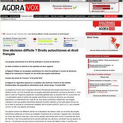Une décision difficile ? Droits autochtones et droit français