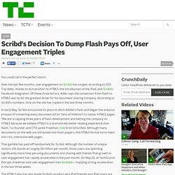 Scribd's Decision To Dump Flash Pays Off, User Engagement Triple