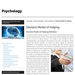 Decision Model of Helping - IResearchNet