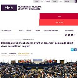 Décision de l'UE : tout citoyen ayant un logement de plus de 60m2 devra accueillir un migrant