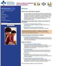 Outils d'aide à la décision pour les patients - Institut de recherche de l'Hôpital d'Ottawa