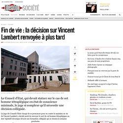 Fin de vie: la décision sur Vincent Lambert renvoyée à plus tard