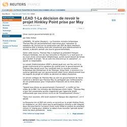 La décision de revoir le projet Hinkley Point prise par Theresa May