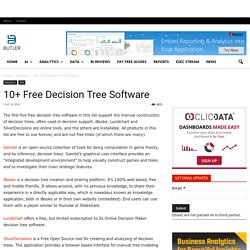 10+ Free Decision Tree Software - Butler Analytics