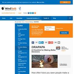 ORAPAPA - Decision-Making Skills Training From MindTools.com
