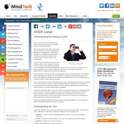 OODA Loops - Decision-Making Skills Training from MindTools.com