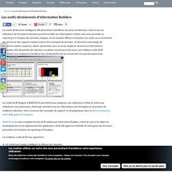 Les outils décisionnels d'Information Builders