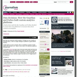 Data decisions: How the Guardian and Forbes built custom analytics platforms