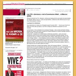 Les 316 « décisions » de la Commission Attali… et Macron (2008)