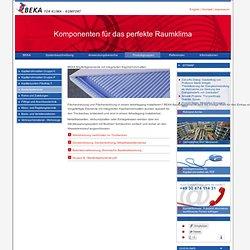Trockenbau Elemente für Deckenheizungen und Wandheizungen