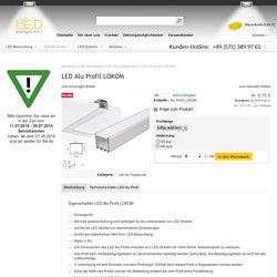 LED Alu Deckenprofil LOKOM für 2 Streifen parallel, LED-konzept.de online LED kaufen