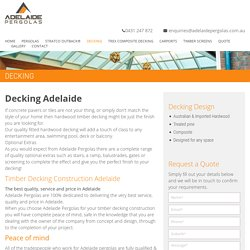 Decking Adelaide - Leading Decking Contractor Adelaide