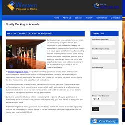 Decks Adelaide - Westernpergolas N Decks
