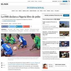 La OMS declara a Nigeria libre de polio