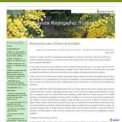 Declaración sobre el llanto de los bebés - Casilda Rodrigañez Bustos