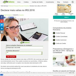 Declarar mais valias no IRS 2016