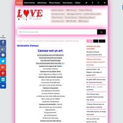 declaration d'amour