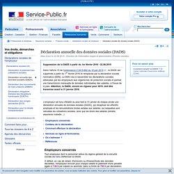 Déclaration annuelle des données sociales (DADS)