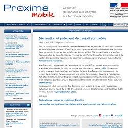Déclaration et paiement de l'impôt sur mobile