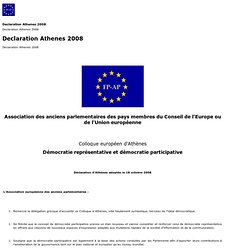 Declaration Athenes 2008