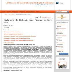 Déclaration de Bethesda pour l'édition en libre accès