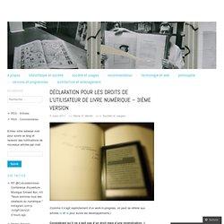 Déclaration pour les droits de l'utilisateur de livre numérique – 3ième version