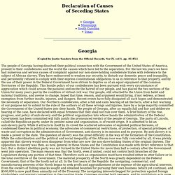 Declaration of Causes of Secession