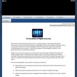 The Declaration of Digital Citizenship